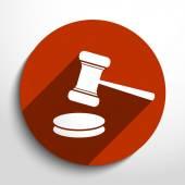 Vector hammer judge web icon
