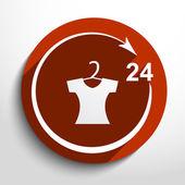 Vector dress shop 24 hours service Eps 10