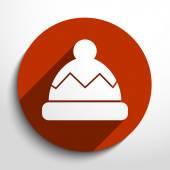 Vektorové zimní čepici web ploché ikony
