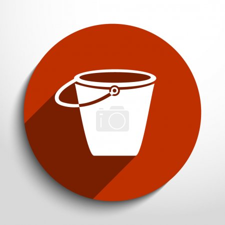 Vector bucket flat icon illustration.