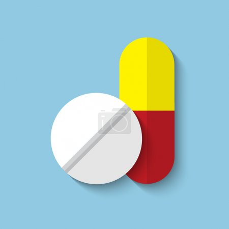 medical drugs web flat icon