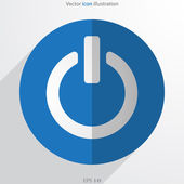 Vector on off switch web flat icon