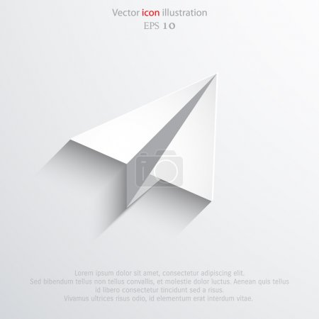 Vector flat paper plane web icon.