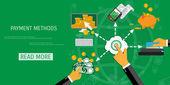 Vector payment methods concept
