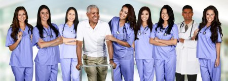 Doctor and Nurses With A Patient