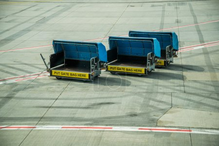 Airport baggage truck.