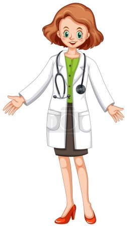 Female doctor in white gown and stethoscope