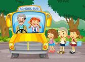 Děti na školní autobus