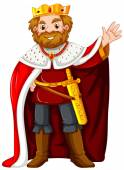 King wearing red robe illustration