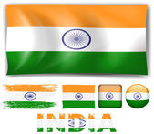 India flag in different designs
