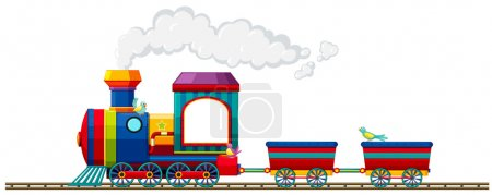 Train riding on the track