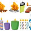 Illustration of the set of things that causes fire...