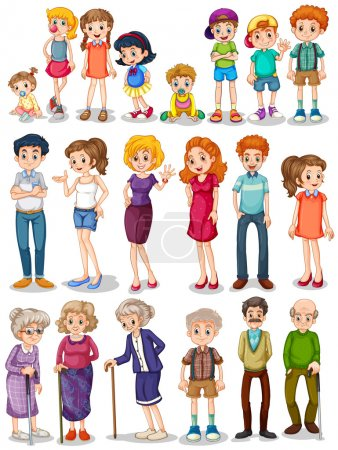 Illustration for Illustration of a set of family - Royalty Free Image