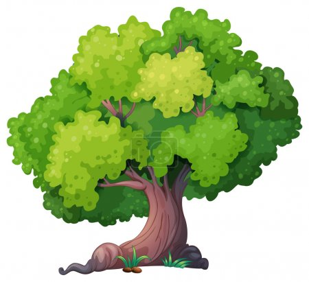 Illustration for Illustration of a closeup tree - Royalty Free Image