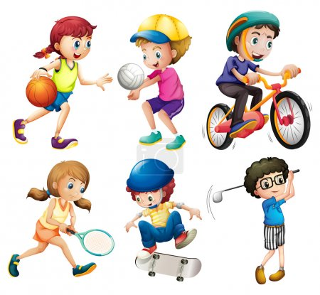 Illustration for Illustration of children playing sports - Royalty Free Image