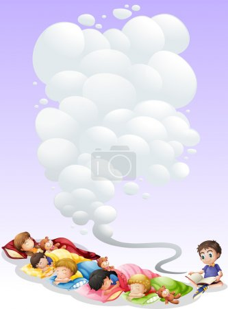 Illustration for Illustration of children are taking a nap - Royalty Free Image
