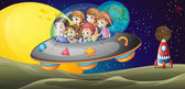 Kids in the outerspace