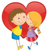 Couple and heart