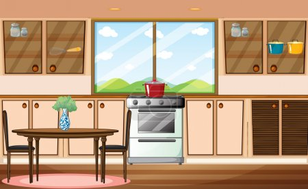 Illustration for Illustration of a classic pantry - Royalty Free Image