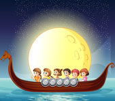 Children and boat