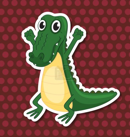 An isolated toy crocodile...
