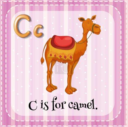 Illustration pour Fiche éclair d'un alphabet C - image libre de droit