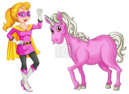 A female hero and a horse