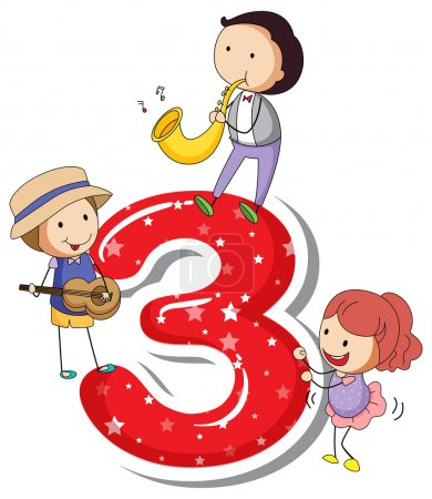 Illustration for A number three on a white background - Royalty Free Image