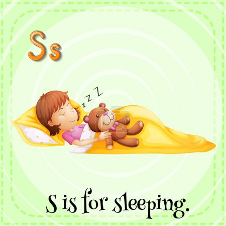 A letter S for sleeping