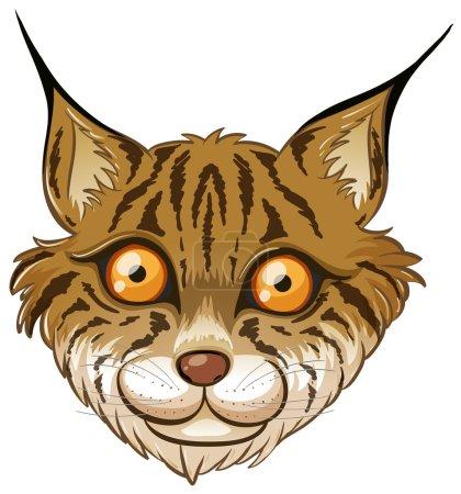 Illustration pour Illustration d'une tête de lynx - image libre de droit