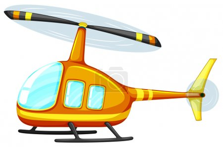Illustration for Illustration of a close up helicopter - Royalty Free Image