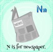 A letter N for newspaper