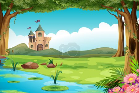 Castle and pond