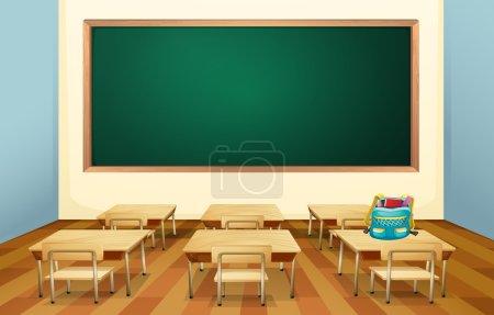 Illustration pour Illustration d'une classe vide - image libre de droit