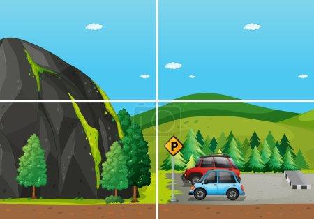Illustration pour Illustration de scènes du parc national - image libre de droit