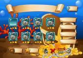 Underwater scene of game template