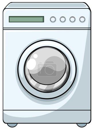 Illustration pour Fermer machine à laver avec porte d'entrée - image libre de droit