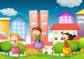 Children and city
