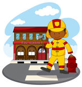 Fire fighter and fire station