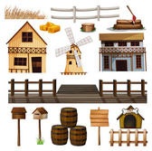 Countryside style of buildings and other objects