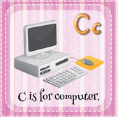 Letter C is for computer