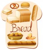 Different kind of bread illustration