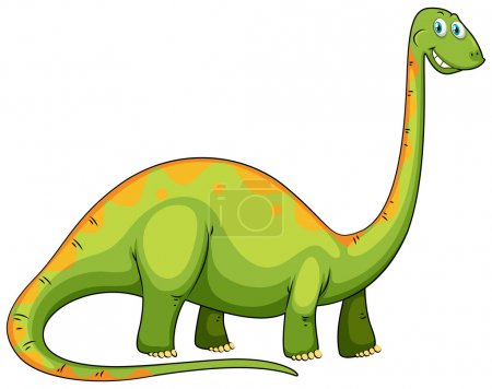 Green dinosaur with long neck