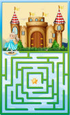 Game template with princess and castle