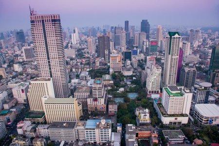Panorama view of Bangkok skyline