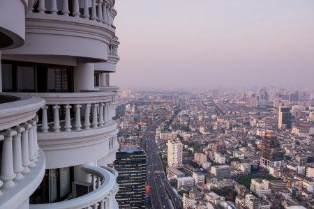 Panorama view to Bangkok skyline