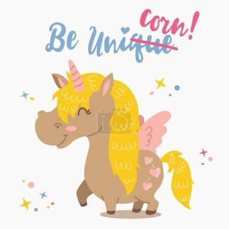 Adorable cartoon Unicorn.