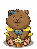 Happy girl bear