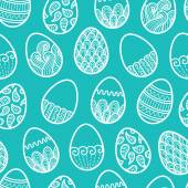 Vector seamless doodle easter pattern with Easter eggs