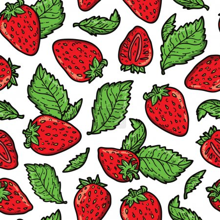 cute strawberry pattern.